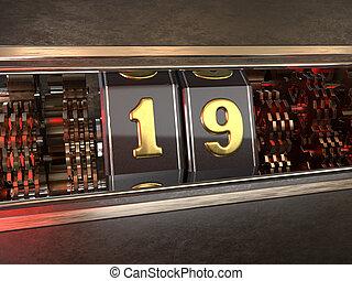 数, スロットマシン, 19, nineteen), (number, スタイル