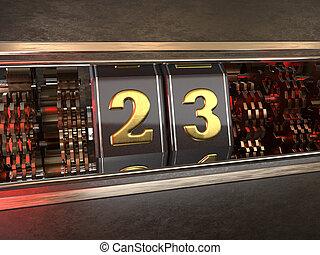 数, スロットマシン, 23, スタイル