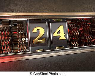 数, スロットマシン, 24, スタイル
