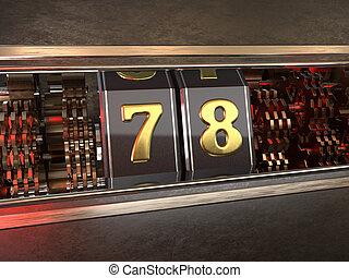 数, スロット, 78, 機械, スタイル