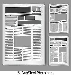数, セット, 新聞, 2
