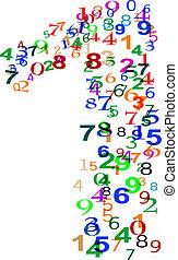 数, 作られた, 数, カラフルである, 1(人・つ)