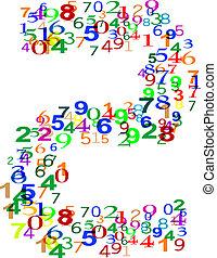 数, 作られた, 数, カラフルである, 2