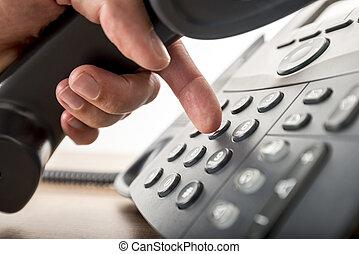 数, 電話, 黒, landline, クローズアップ, ダイアルする