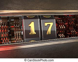 数, 17, スロットマシン, スタイル