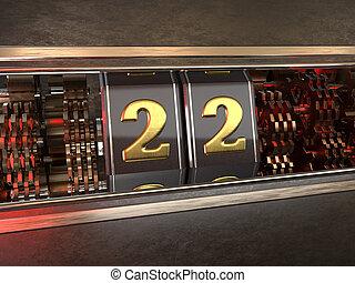数, 22, スロットマシン, スタイル