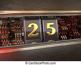 数, 25, スロットマシン, スタイル