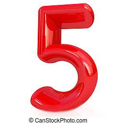 """数, """"5""""-, 5"""