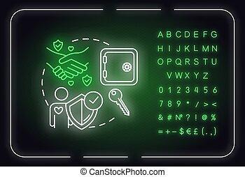 数, idea., ある, 友情, icon., アルファベット, 印, rgb, 信頼できる, 信頼できる, イラスト...