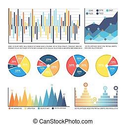 数, infographics, 隔離された, 数字