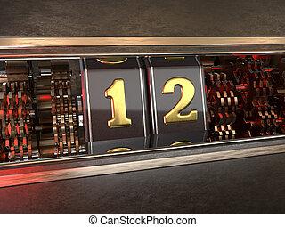 数, twelve), スロットマシン, 12, (number, スタイル