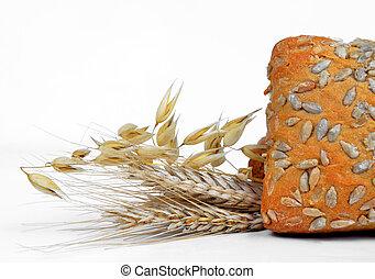 整個小麥麵包