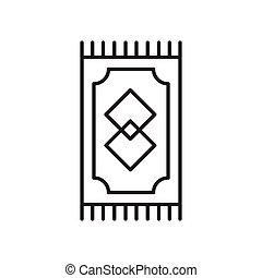 敷物, 色, editable., 網, アイコン, 図形記号, ベクトル, design., 黒, 祈とう, 平ら,...