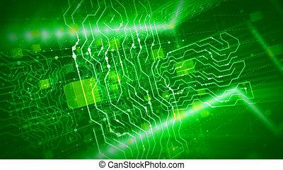 數字, 光線, 綠色, 板, 有角