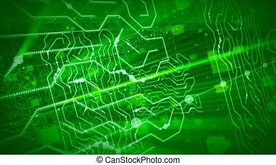 數字, 有角, 綠色, 條紋, 板