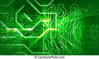 數字, 綠色, 迷惑不解, 電路板