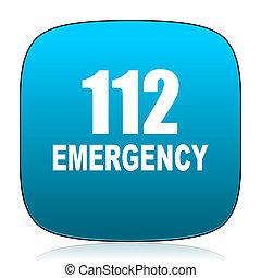 數字, 緊急事件, 112, 藍色, 圖象