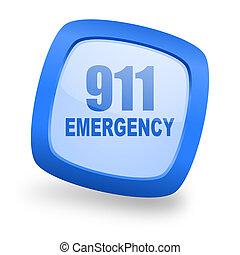 數字, 緊急事件, 911, 廣場, 有光澤, 藍色, 网設計, 圖象