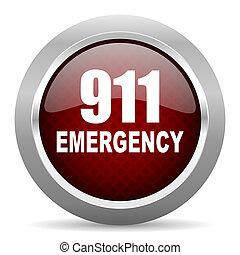 數字, 緊急事件, 911, 紅色, 有光澤, 网, 圖象