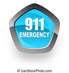 數字, 緊急事件, 911, 藍色, 金屬, 鉻, 网, 五角大樓, 有光澤, 圖象