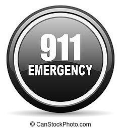 數字, 緊急事件, 911, 黑色的圓, 有光澤, 网, 圖象