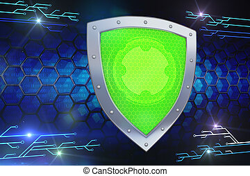 數字, shield., 電腦網路, 安全