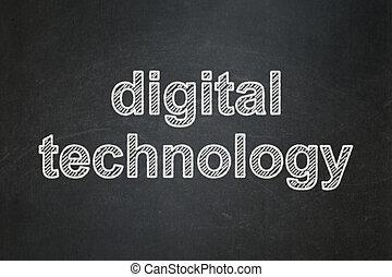 數据, concept:, 數字技術, 上, 黑板, 背景