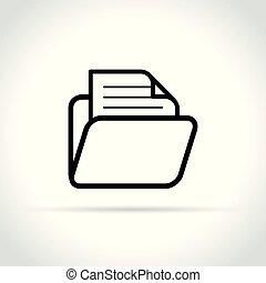 文件夹, 白的背景, 图标