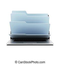 文件夹, 笔记本电脑