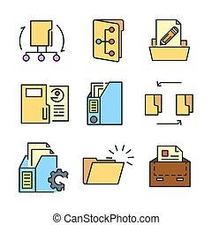 文件夾, 圖象, 集合, 顏色