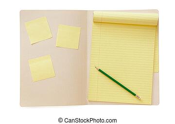 文件夾, 由于, notepad