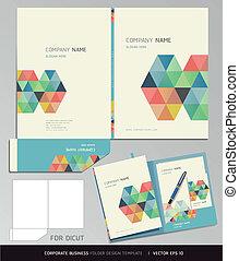 文件夾, 設計, template.