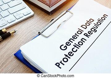文件, 一般, 數据保護, 規定, (gdpr), 上, a, desk.