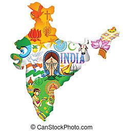 文化, の, インド