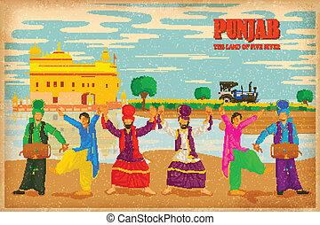 文化, の, punjab