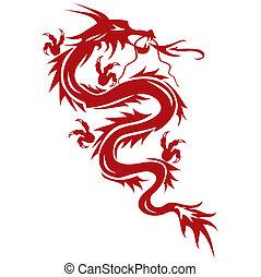 文化, シンボル, 東洋人, -, ドラゴン