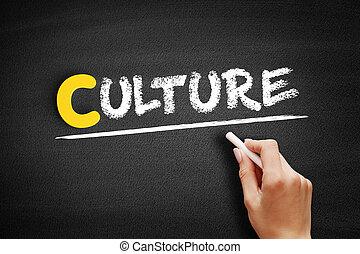 文化, テキスト, 黒板