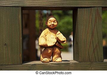 文化, 南, 伝統的である, 韓国, 人形
