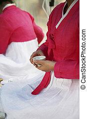 文化, 南, 伝統的である, 韓国, 茶 式