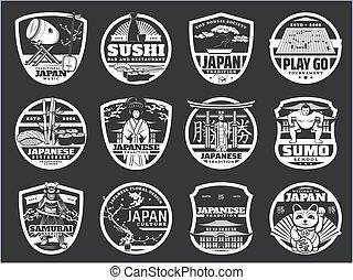 文化, 寿司, 日本, アイコン, 歴史, 宗教
