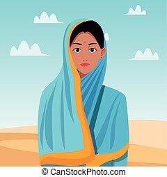 文化, indian, 東洋人, アジア人, 漫画