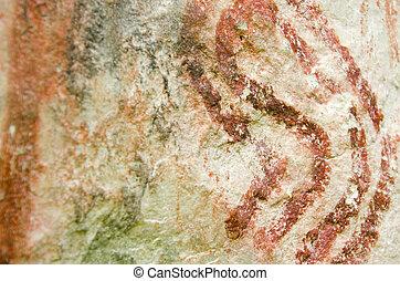 文化, muisca, 岩, pictogram, コロンビアの前の