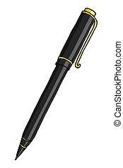 文房具, ペン, イラスト, ボールペン