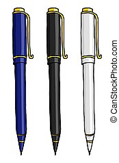 文房具, ボールペン, イラスト