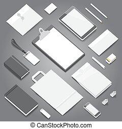 文房具, 企業イメージの統一戦略, mockup