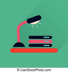 文書, アイコン, ランプ, 長い間, 影, 平ら