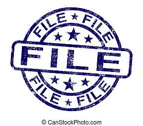 文書, 切手, ペーパー, ファイル, 組織化する, ショー
