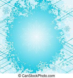 文雅, 藍色, 聖誕節, 框架
