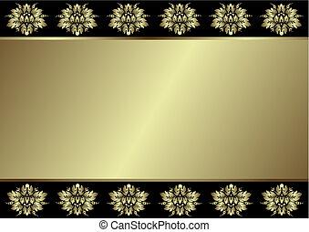 文雅, 黑色和, 銀色, 背景, (vector)