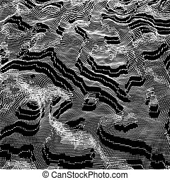斑点を付けられる, structure., 抽象的, 暗い, バックグラウンド。, 接続, ベクトル, texture.